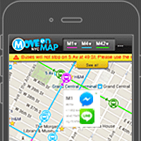 Bustime Nyc Real Time Busmetrotrain Location Move On Map